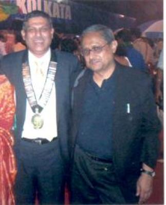 Dr. Bhasker Banerji with Dr. H.K.T. Raza President Indian Orthopaedic Association and Secretary of A